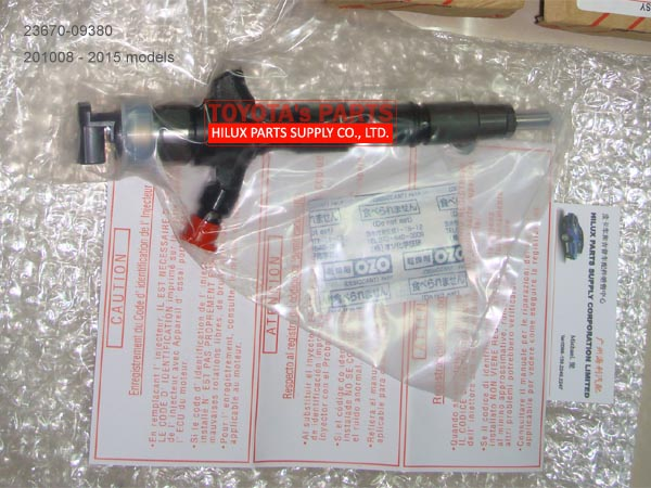 23670-09380,Genuine Toyota Hilux Innova 2KD Fuel Injector Assy