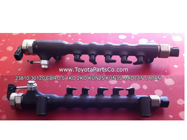 23810-30120,Genuine Toyota 1KD 2KD Fuel Common Rail For Hilux Euro 5