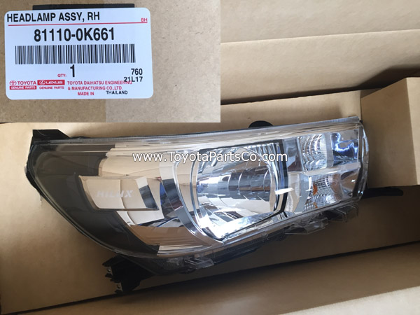 81110-0K661,Genuine Toyota Hilux Revo Head Lamp,81150-0K661
